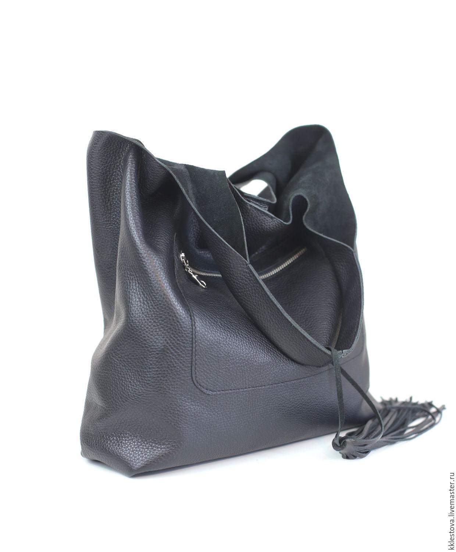 Black leather Bag Bag Package String bag large shopper t shirt Bag, Sacks, Moscow,  Фото №1