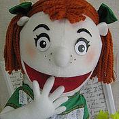 Куклы и игрушки ручной работы. Ярмарка Мастеров - ручная работа кукла на руку.Маппет девочка. Handmade.