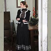 Одежда ручной работы. Ярмарка Мастеров - ручная работа Юбка длинная Чёрная роза. Handmade.