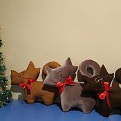 """Детская подушка ручной работы. Ярмарка Мастеров - ручная работа Подушка сплюшка """"Кот"""". Handmade."""