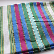 Материалы для творчества handmade. Livemaster - original item Uzbek vintage silk fabric Bahasa 46h130cm. Handmade.