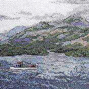 Картины и панно ручной работы. Ярмарка Мастеров - ручная работа Острова за Ла-Маншем, Шотландия Англия Ирландия, вышитые картины, море. Handmade.