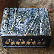Для дома и интерьера handmade. Livemaster - original item Trinket box Wolf. Handmade.