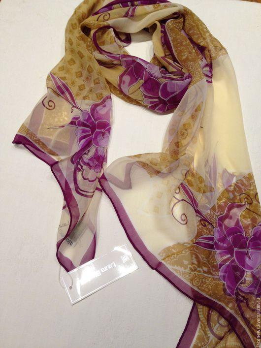 Винтажная одежда и аксессуары. Ярмарка Мастеров - ручная работа. Купить Платок Шарфик натуральный шелк 50Х160 см новый. Handmade.