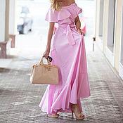 Одежда ручной работы. Ярмарка Мастеров - ручная работа Платье сарафан с рюшей. Handmade.