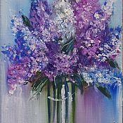 Картины и панно handmade. Livemaster - original item pintura al óleo de la lila. Handmade.