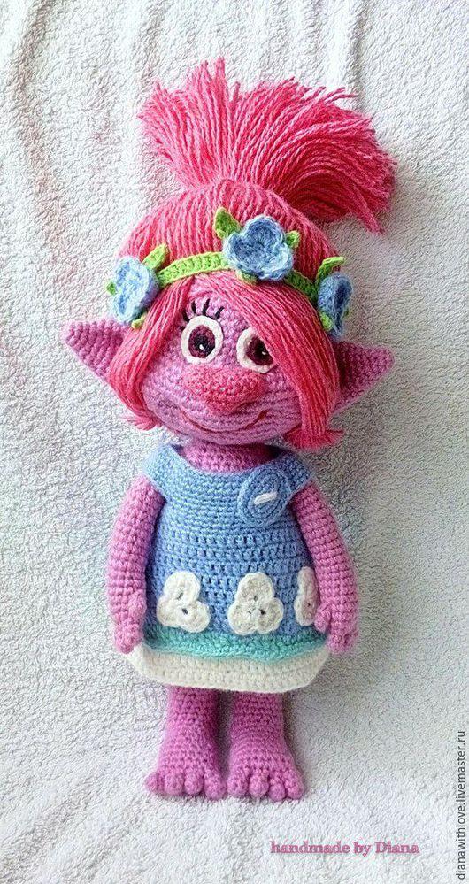 Коллекционные куклы ручной работы. Ярмарка Мастеров - ручная работа. Купить Вязанная кукла Принцесса Розочка. Handmade. Фуксия