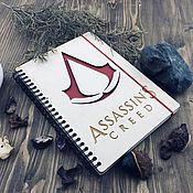 Канцелярские товары handmade. Livemaster - original item Assassin`s Creed Wooden Notepad / Sketchbook. Handmade.