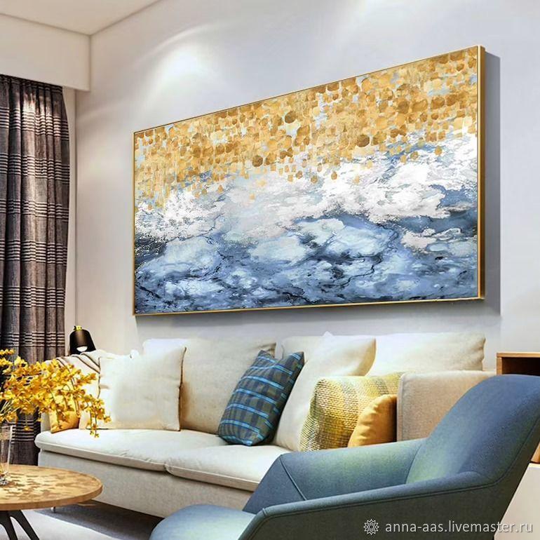 Картины маслом на холсте Синяя картина, Картины, Санкт-Петербург,  Фото №1