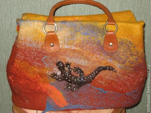 Женские сумки ручной работы. Ярмарка Мастеров - ручная работа. Купить Сумка Саламандра. Handmade. Абстрактный, саламандра