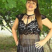 Одежда ручной работы. Ярмарка Мастеров - ручная работа Туника черная  АНТРАЦИТ. Handmade.