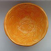 """Посуда ручной работы. Ярмарка Мастеров - ручная работа Пиала """"Оранжевое настроение"""". Handmade."""