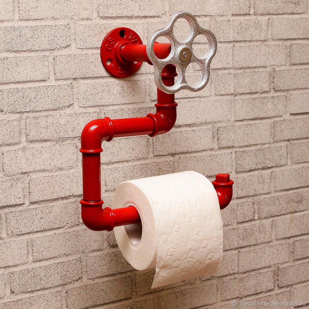 Держатель туалетной бумаги в стиле лофт, индастриал, стимпанк, Ванная комната, Москва, Фото №1