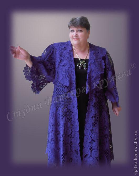 Пальто кружевное `Барыня`. Полочка.