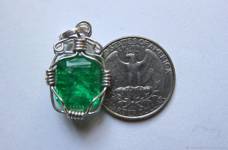 emerald necklace emerald pendant emerald jewelry, Pendants, Celaya,  Фото №1