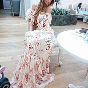 Одежда ручной работы. Ярмарка Мастеров - ручная работа Платье с воланами в пол. Handmade.