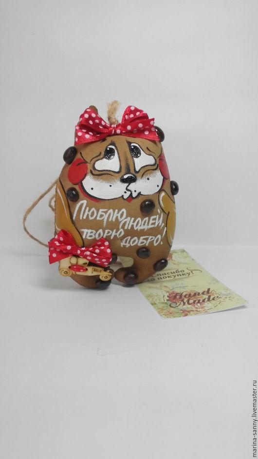 Ароматизированные куклы ручной работы. Ярмарка Мастеров - ручная работа. Купить Кофейная кошечка(Люблю людей, творю добро). Handmade. Коричневый