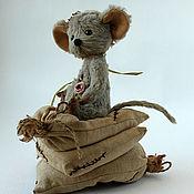 Куклы и игрушки ручной работы. Ярмарка Мастеров - ручная работа Тедди Мышка Принцесса на горошине. Handmade.