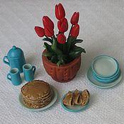 Куклы и игрушки ручной работы. Ярмарка Мастеров - ручная работа Блинчики - миниатюра 1:12 (полимерная глина). Handmade.