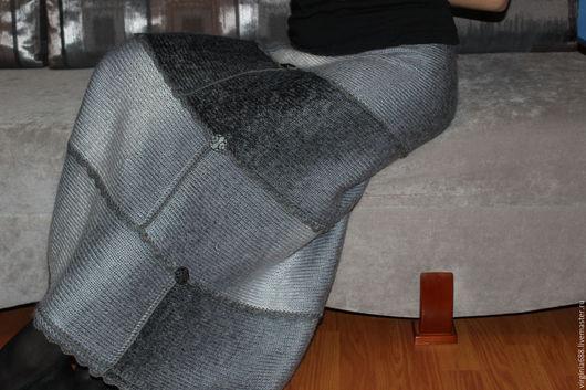 Юбки ручной работы. Ярмарка Мастеров - ручная работа. Купить юбка ГРАДИЕНТ. Handmade. Серебряный, юбка ярусами, юбка длинная