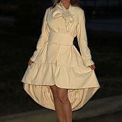 """Одежда ручной работы. Ярмарка Мастеров - ручная работа Пальто """"Нежность с бантом """" молочного цвета. Handmade."""