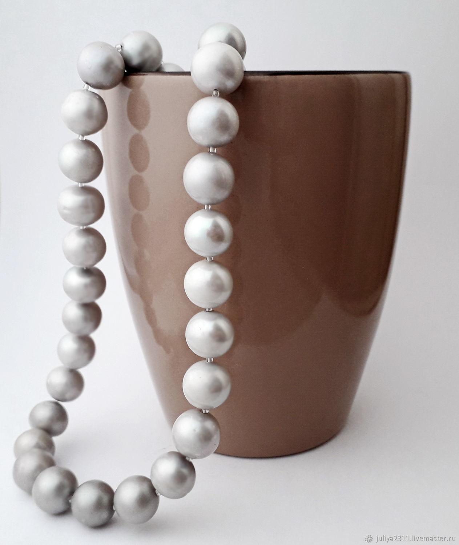 05a6a9993 Jewelry Sets handmade. Livemaster - handmade. Buy Beads pearl grey