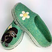 Обувь ручной работы handmade. Livemaster - original item Felted Slippers with silicone soles. Handmade.