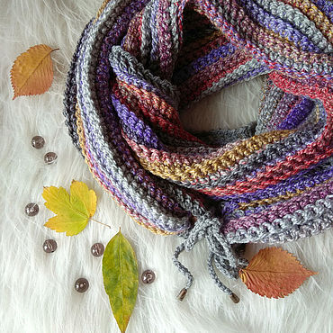 Accessories handmade. Livemaster - original item Long knitted scarf-Snood