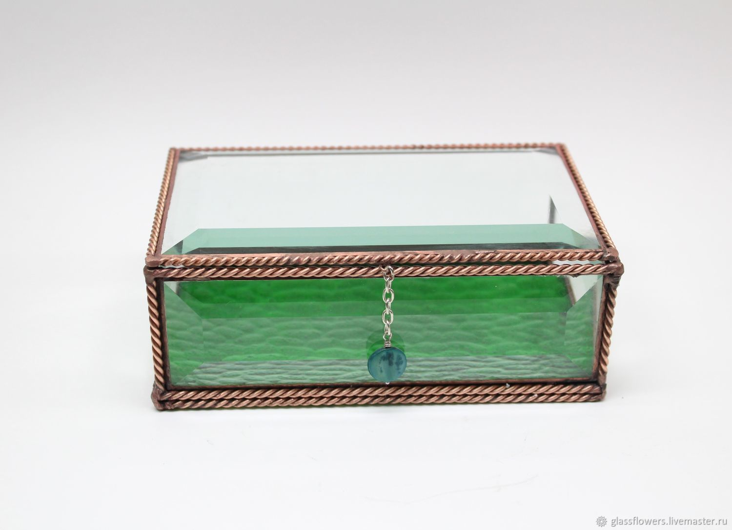 Wedding box. Box with facet glass and filigree. Grace, Box, St. Petersburg,  Фото №1