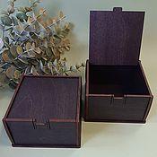 handmade. Livemaster - original item 4 PCs. Wooden box 9 x 9 x 5 cm (inside). Handmade.
