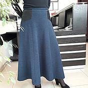 Одежда ручной работы. Ярмарка Мастеров - ручная работа Юбка шерсть стрейч. Handmade.