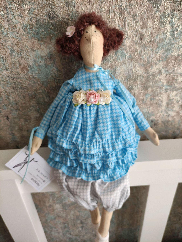Куколка в стиле тильда в платье с рюшами, Куклы Тильда, Курск,  Фото №1