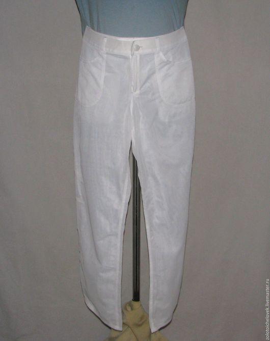 Брюки, шорты ручной работы. Ярмарка Мастеров - ручная работа. Купить Женские джинсы выходного дня. Handmade. Белый, женские