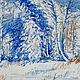 Пейзаж ручной работы. Ярмарка Мастеров - ручная работа. Купить пейзаж акварелью Лесная сказка. Handmade. Синий, акварельный пейзаж