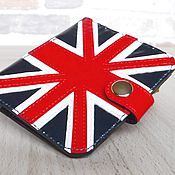 Сумки и аксессуары handmade. Livemaster - original item Genuine leather wallet UK flag.. Handmade.