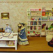 Куклы и игрушки ручной работы. Ярмарка Мастеров - ручная работа Кукольная миниатюра 1:12 Швейная мастерская в стиле ретро. Handmade.