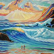 Картины и панно ручной работы. Ярмарка Мастеров - ручная работа Океан любви, вольная копия картины Джима Уоррена. Handmade.
