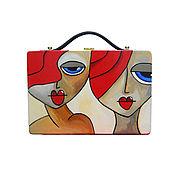 handmade. Livemaster - original item Women`s bag made of wood with painted T. Fedro, beige. Handmade.