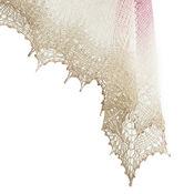Аксессуары ручной работы. Ярмарка Мастеров - ручная работа Розово-бежевый платок с ажурной каймой. Handmade.