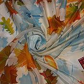 """Аксессуары ручной работы. Ярмарка Мастеров - ручная работа Платок шелк """"Немного солнца в холодной воде""""серия """"Калейдоскоп"""". Handmade."""