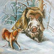 """Картины и панно ручной работы. Ярмарка Мастеров - ручная работа Картина на тему  """"охота"""". Handmade."""