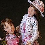 """Куклы и игрушки ручной работы. Ярмарка Мастеров - ручная работа Авторская  Портретная Кукла """" Папины принцессы"""" из полимерной глины. Handmade."""