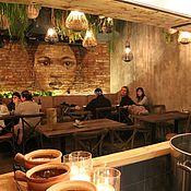 Декор ручной работы. Ярмарка Мастеров - ручная работа Роспись на кирпичной стене в ресторане.. Handmade.