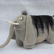 Куклы и игрушки ручной работы. Ярмарка Мастеров - ручная работа Слон полосатый, редкий.... Handmade.