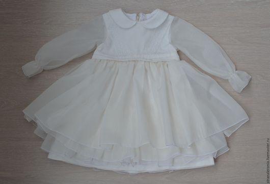 Одежда для девочек, ручной работы. Ярмарка Мастеров - ручная работа. Купить Нарядное платье для девочки. Handmade. Белый, платье