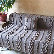 Для дома и интерьера handmade. Livemaster - original item Plaid knitted spokes (blanket blanket) Royal braids handmade. Handmade.