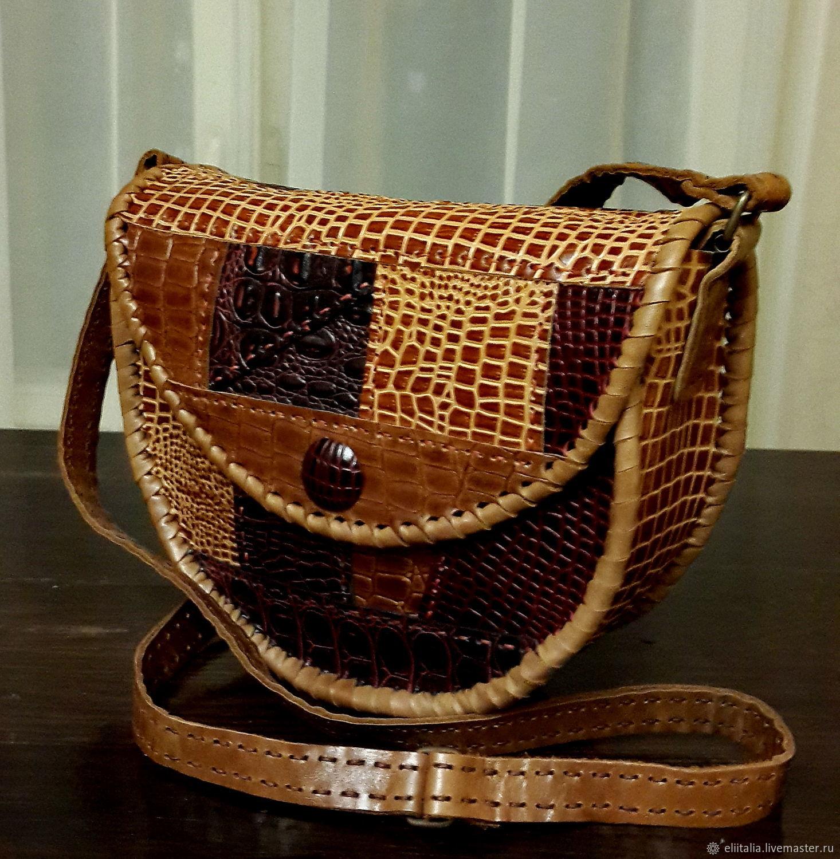Коричнево-рыжая сумка в стиле печворк, Женские сумки, Санкт-Петербург, Фото №1