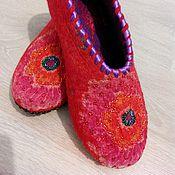 Обувь ручной работы. Ярмарка Мастеров - ручная работа Тёплые тапочки. Handmade.