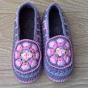 Обувь ручной работы handmade. Livemaster - original item Slippers on felt soles, Angelica. Handmade.