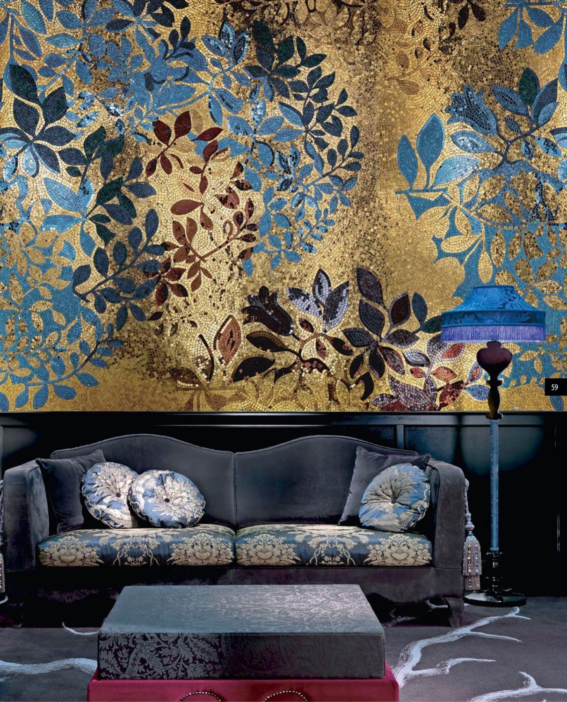 Мозаичное панно с золотом, Картины, Москва,  Фото №1
